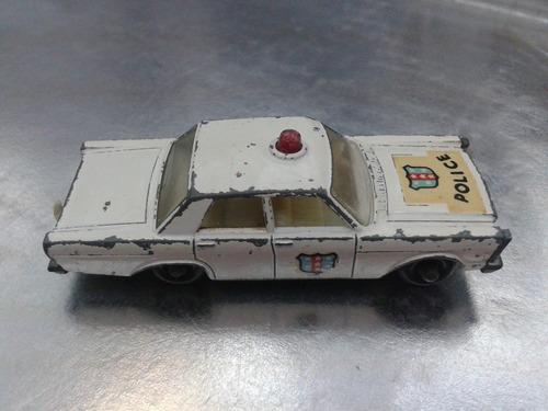 matchbox lesney - ford galaxie policia de 1966  m.i. england