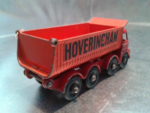 matchbox lesney - hoveringham tipper de 1963 m.i. england