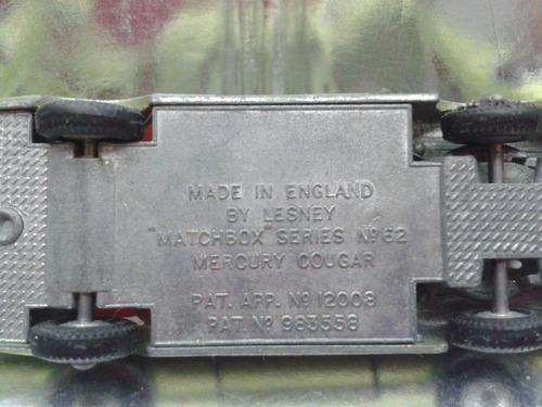 matchbox lesney - mercury cougar suelto  m.i. england