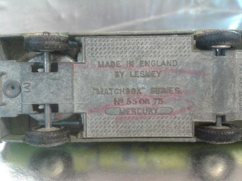 matchbox lesney - mercury de 1968  m.i. england