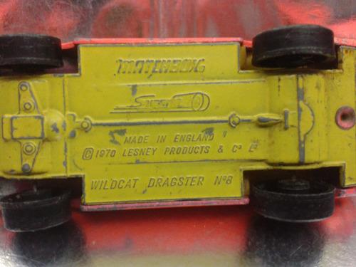 matchbox lesney - mustang wildcat d. de 1970 m.i. england