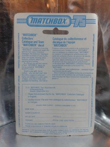 matchbox lesney - pick up wild life truck de 1978 england 1