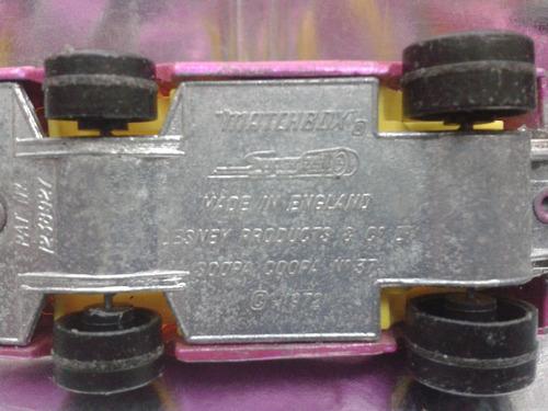 matchbox lesney - soopa coopa de 1972 m.i. england