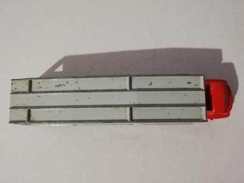 matchbox lesney tráiler madrina nodriza rojo con gris