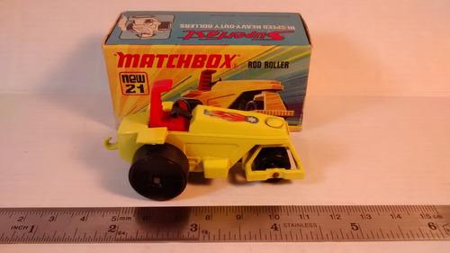 matchbox máquina aplanadora superfast n°21 colección 75