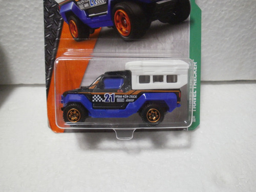 matchbox travel tracker camioneta camper azul 96/125
