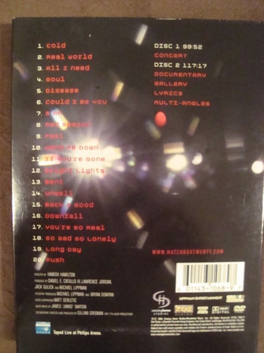 matchbox twenty - night in the life - dvd duplo / importado