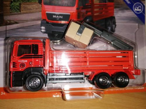 matchbox working rigs man tgs flatbed cargo hauler