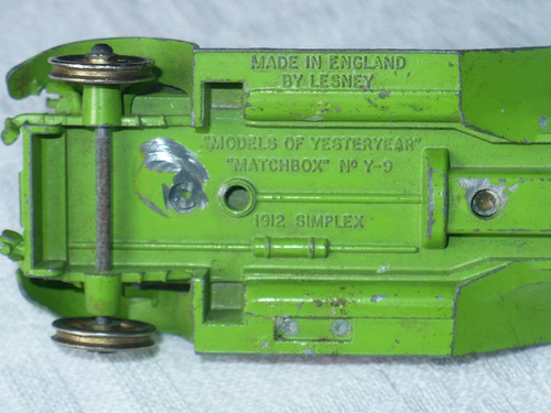 matchbox yesterday y-9 simplex 1912. para repuestos.
