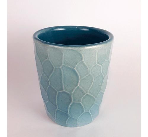 mate de cerámica - mate de diseño verde agua