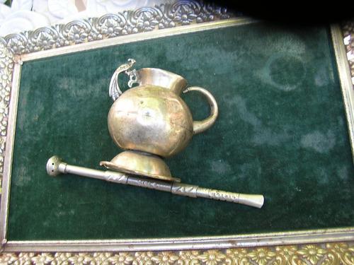 mate de plata, muy antiguo, también  permutable.