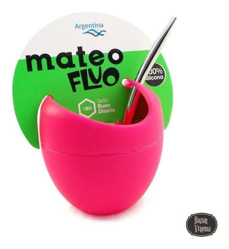 mate de silicona mateo fluo excelente calidad y diseño