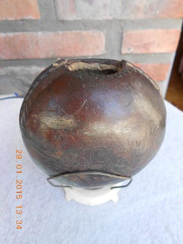 mate usado forrado en cuero con base plastica.