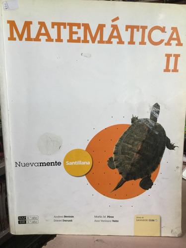 matemática 2 - nuevamente santillana