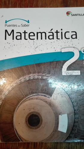 matematica, 2do medio,puentes del saber, santillana