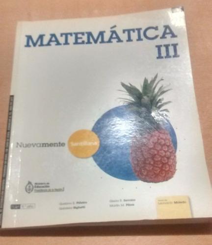 matemática 3 nuevamente santillana