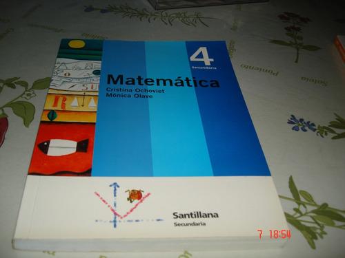 matematica 4 secundaria, santillana igual a nuevo.