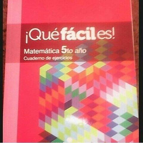 matemática 5 to que fácil es  cadena capriles