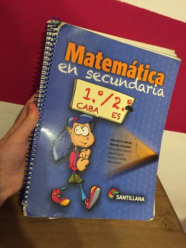 matemática en secundaria 1\2 santillana