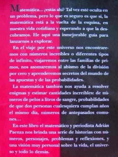 matemática estás ahí?, paenza, ed. siglo xxi