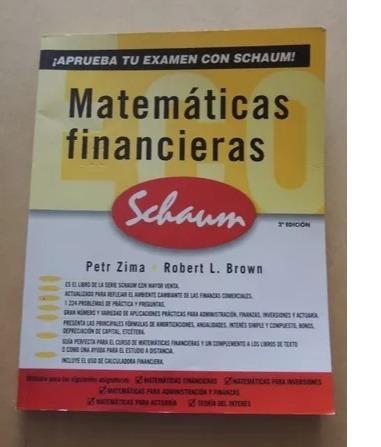 matemática financiera schaum, como nuevo.