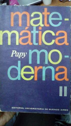 matematica moderna papy tomo 2 eudeba excelente estado