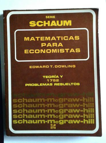 matemática para economistas dowling scahum