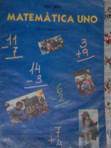 matematica uno- rosgal libro para el alumno 2001