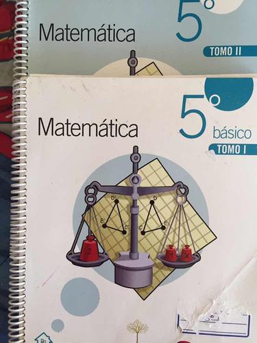 matemáticas 5 básico tomo 1 y 2! santillana casa del saber