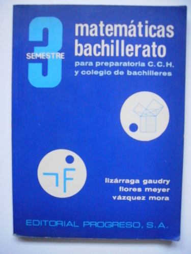 matemáticas bachillerato 3 - lizárraga gaudry - 1977
