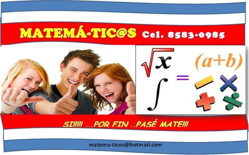 matemáticas clases tutorias ayudas tareas univ cole desampar