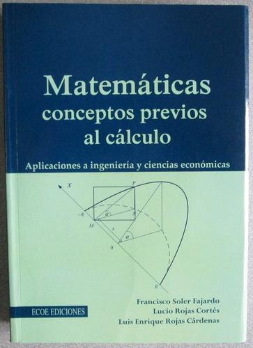 matemáticas conceptos previos al cálculo - ecoe