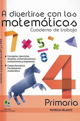 Matemáticas Cuarto Grado Primaria Apoyo Escolar - $ 140.00 en ...