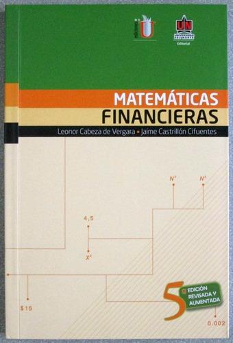 matemáticas financieras / leonor cabeza de vega / edic u