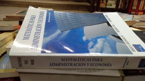 matemáticas para administración y economía haeussler
