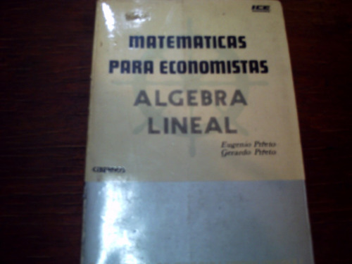 matematicas para economistas, algebra lineal