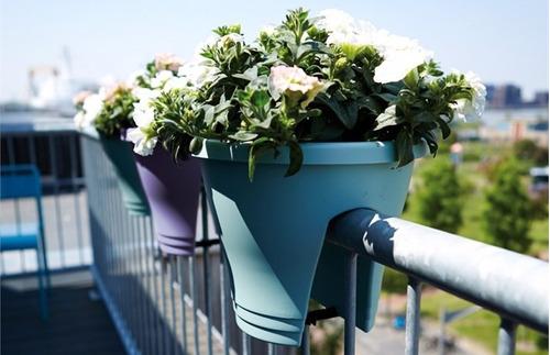 matera plastica para balcon o baranda (violeta)(cherry)