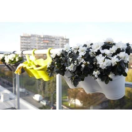 matera plastica para balcon o baranda(3 en 1) verde lima