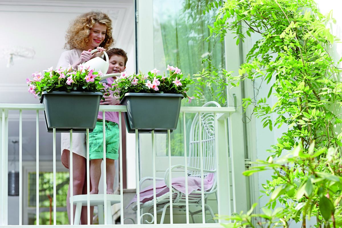 Matera tipo jardinera para balcon o baranda blanca 70 - Jardinera balcon ...