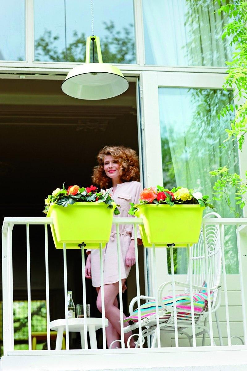 matera tipo jardinera para balcon o baranda fucsia
