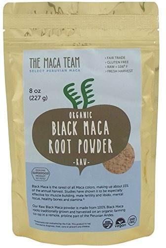 materia prima certificada orgánica polvo negro de maca