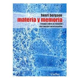 Materia Y Memoria - Henri Bergson