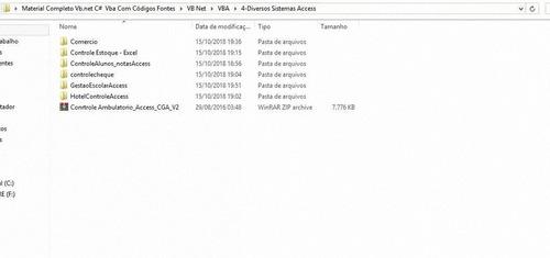 material completo vb.net c#  vba com códigos fontes