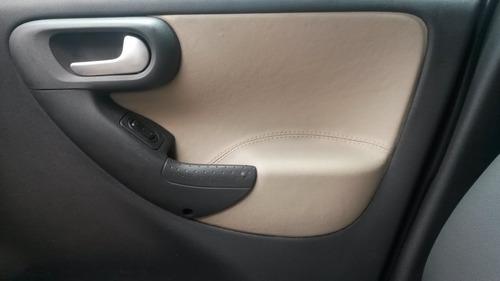 material  couro ecologico cor bege  capa banco e porta corsa