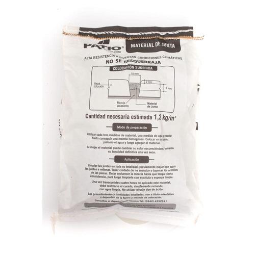 material de junta patio x 5 kilos blanco