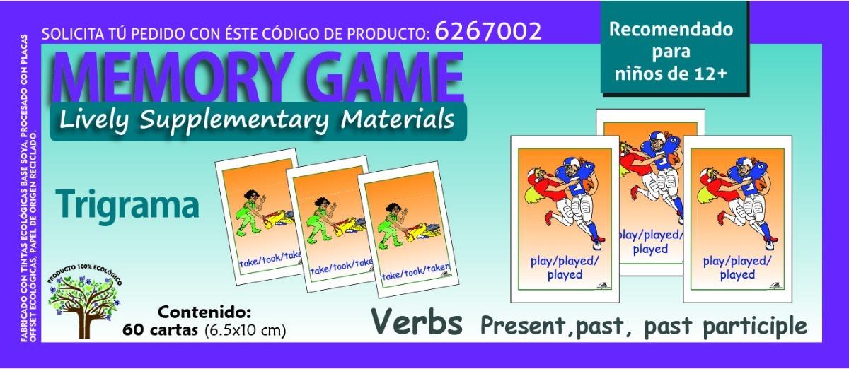 Material Didactico Juego De Memoria Verbos En Ingles 12 65 00