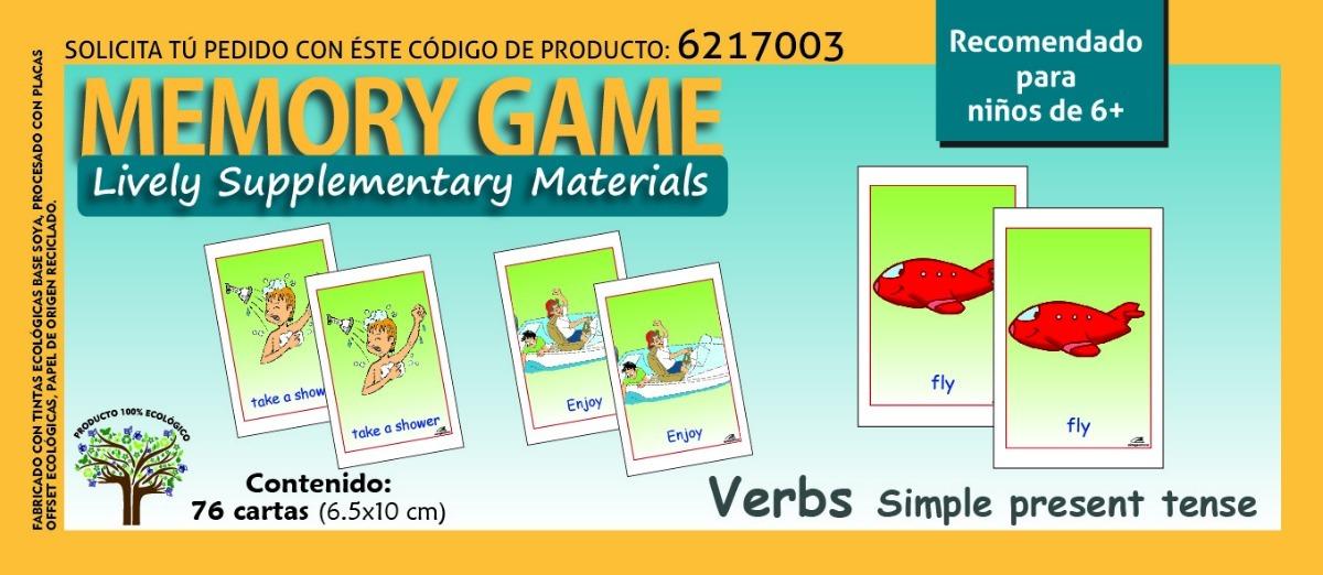 Material Didactico Juego De Memoria Verbos En Ingles 6 80 00 En