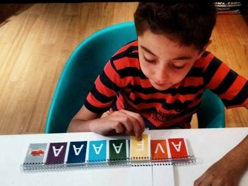 material didactico montessori - aprender a leer y escribir