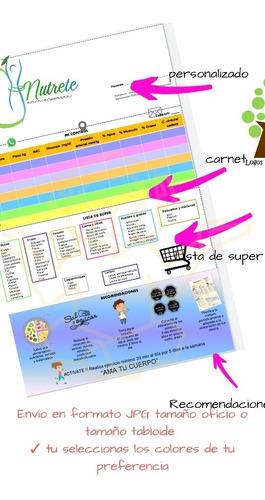 material didáctico para consulta de nutrición