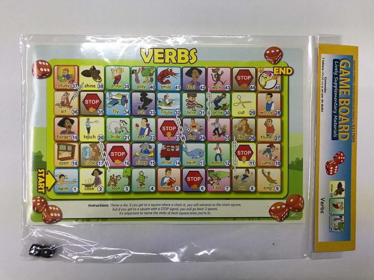 Material Didactico Tablero Para Juegos Verbos En Ingles 45 00 En